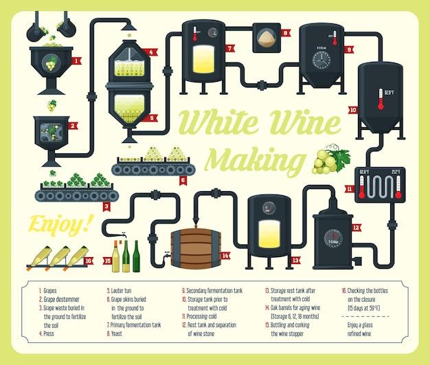 Projekt Wyjaśnienia Infografiki Winiarskiej Premium Wektorów