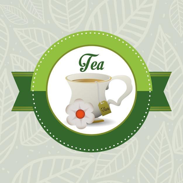Projekt znaczka na herbatę Premium Wektorów