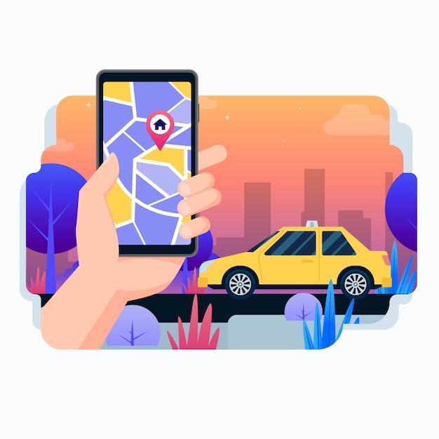 Projektowanie Aplikacji Taxi Darmowych Wektorów