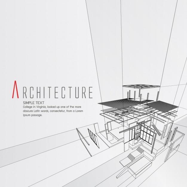 Projektowanie Architektury Tło Darmowych Wektorów