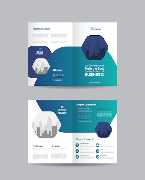 Projektowanie Broszur Biznesowych Bifold Premium Wektorów