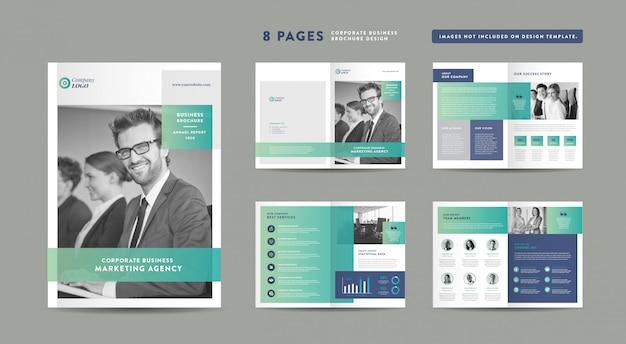 Projektowanie Broszur Korporacyjnych | Raport Roczny I Profil Firmy | Szablon Projektu Broszury I Katalogu Premium Wektorów