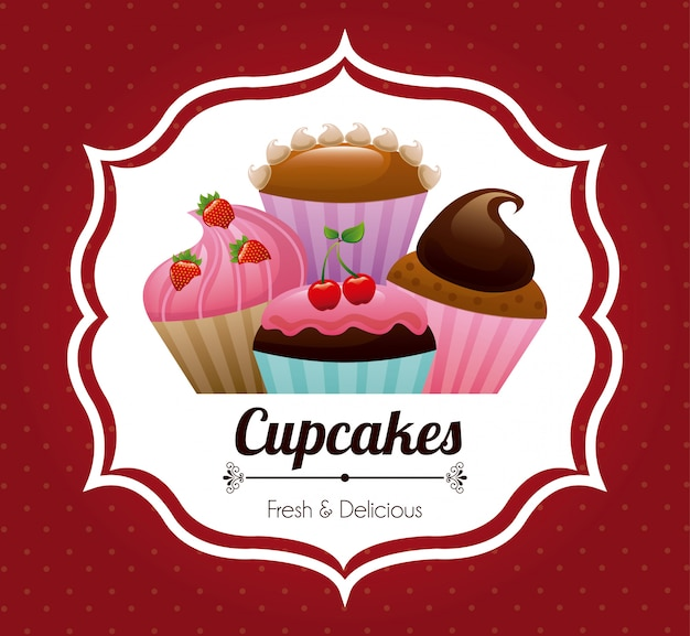 Projektowanie ciast Darmowych Wektorów