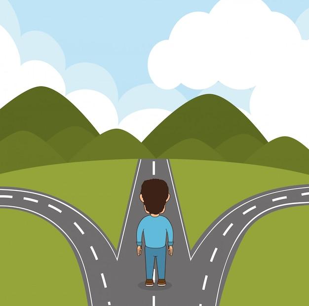 Projektowanie Dróg I Dróg Premium Wektorów