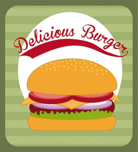 Projektowanie fast foodów Darmowych Wektorów