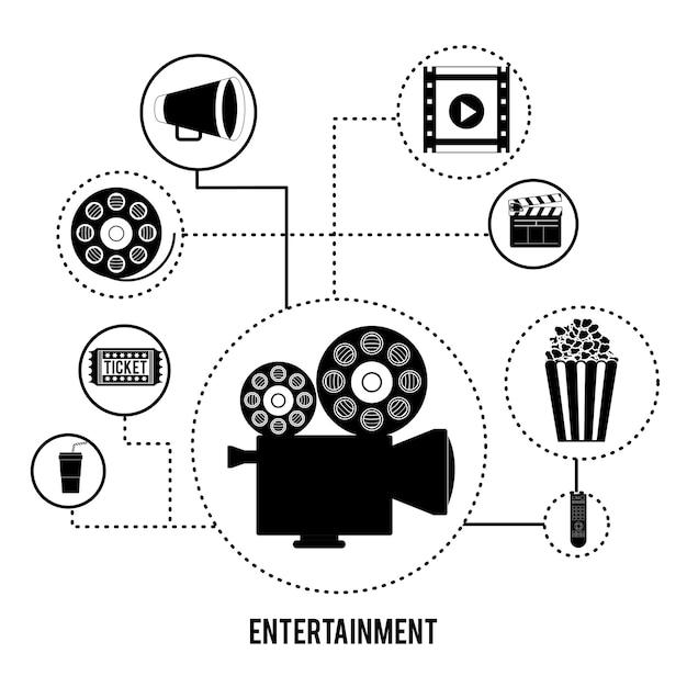 Projektowanie Ikon Rozrywki Premium Wektorów