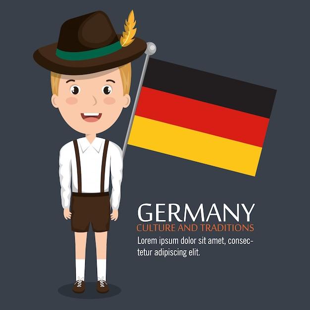 Projektowanie kultury niemieckiej Darmowych Wektorów