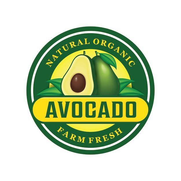 Projektowanie logo awokado Premium Wektorów
