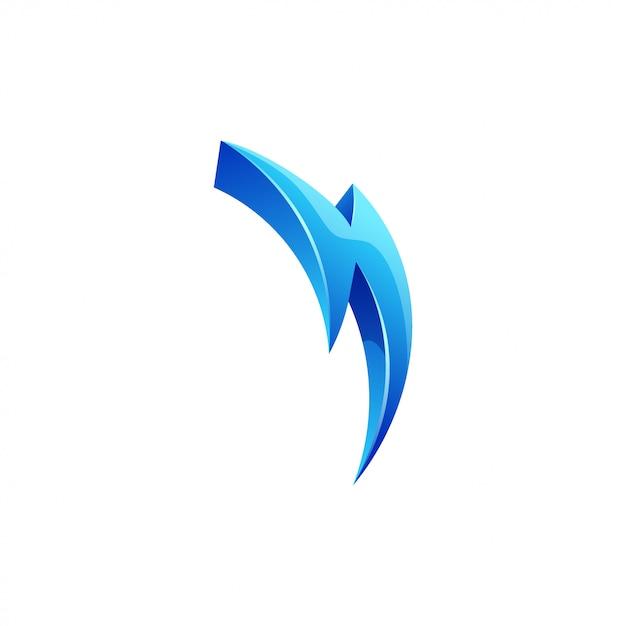 Projektowanie logo błyskawicy Premium Wektorów