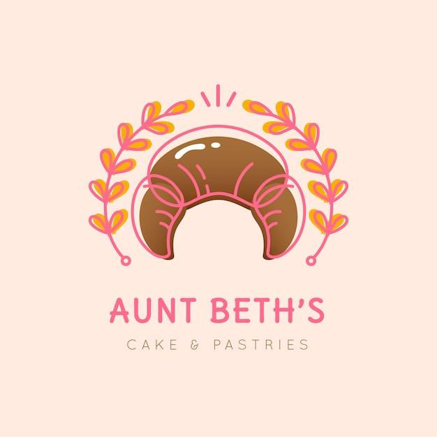 Projektowanie Logo Ciasta Piekarniczego Darmowych Wektorów