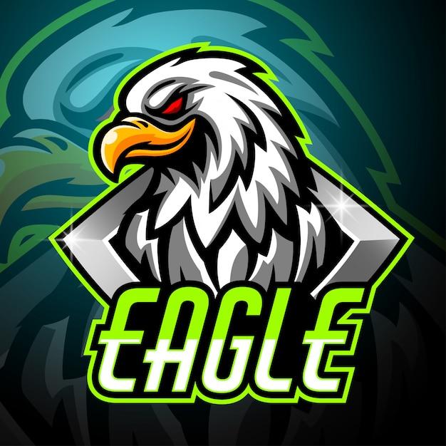 Projektowanie Logo E-maskotka Eagle Maskotka Premium Wektorów