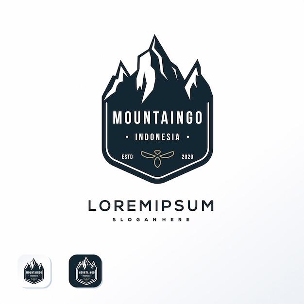 Projektowanie Logo Godło Góry Premium Wektorów