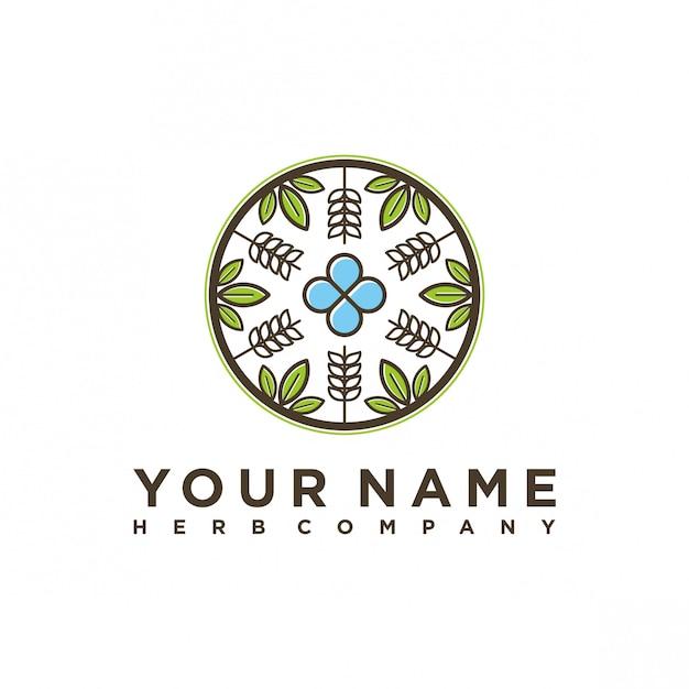 Projektowanie logo herb company Premium Wektorów