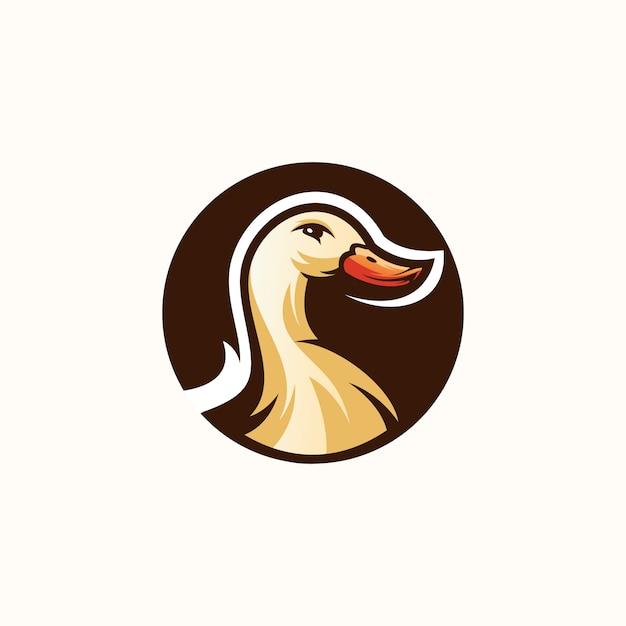 Projektowanie logo kaczki Premium Wektorów