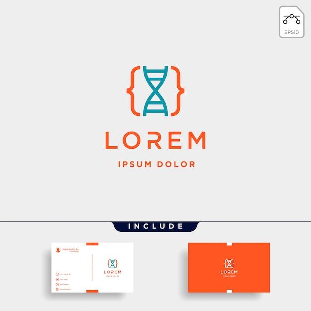 Projektowanie logo kodu dna Premium Wektorów
