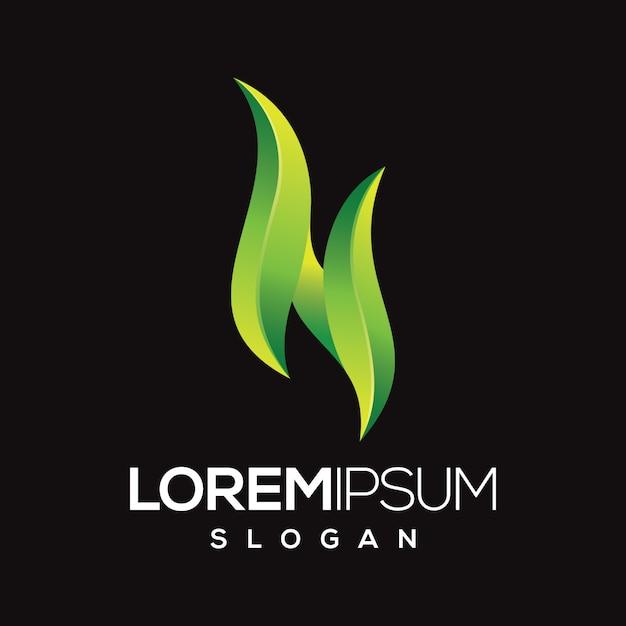 Projektowanie Logo Kolor Gradientu Litery N. Premium Wektorów