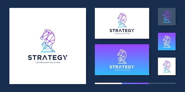 Projektowanie Logo Konia Tech Premium Wektorów
