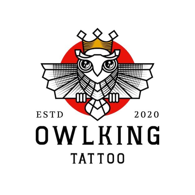 Projektowanie Logo Króla Sowy Premium Wektorów