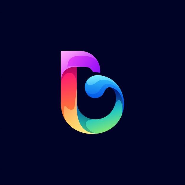 Projektowanie logo litery b. Premium Wektorów