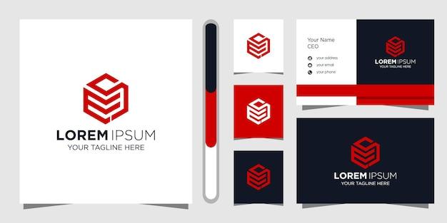 Projektowanie Logo Litery Ms I Wizytówka. Premium Wektorów