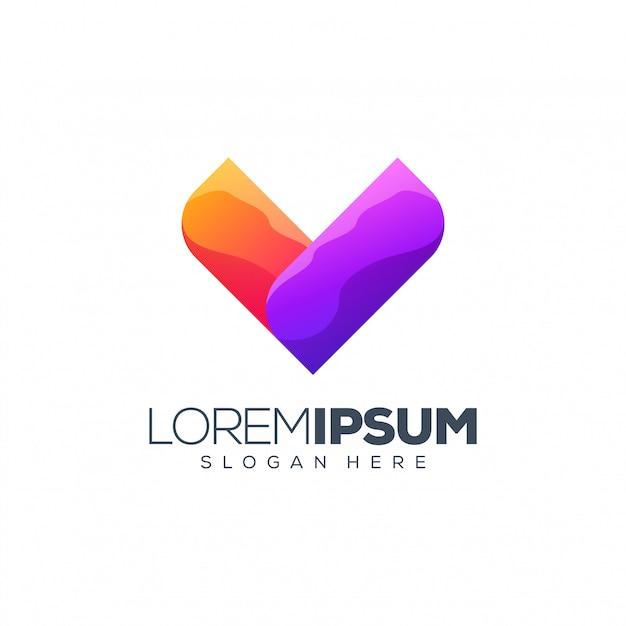 Projektowanie logo litery v. Premium Wektorów