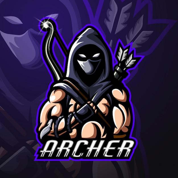 Projektowanie Logo Maskotki Archer Premium Wektorów