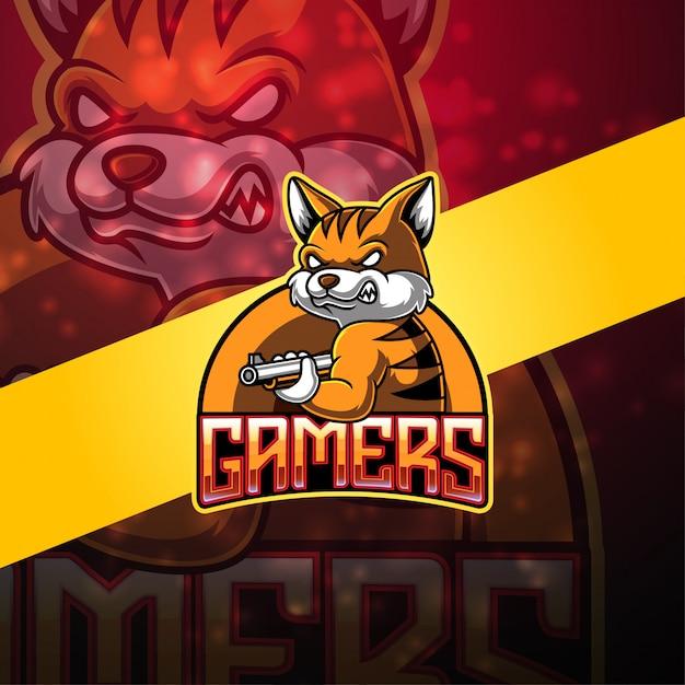 Projektowanie Logo Maskotki Esport Graczy Premium Wektorów