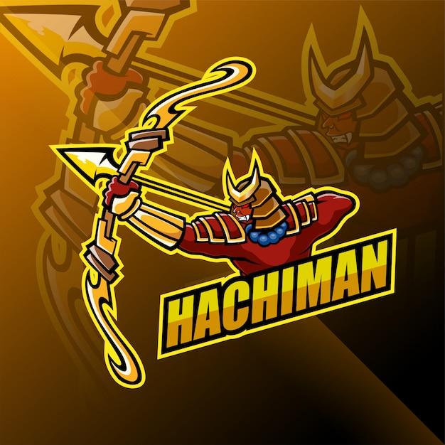 Projektowanie Logo Maskotki Hachiman Premium Wektorów