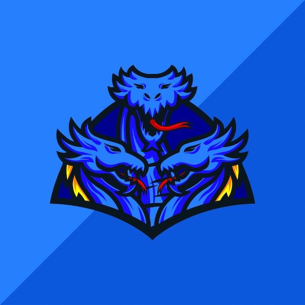Projektowanie Logo Maskotki Sportowej Hydra E Premium Wektorów