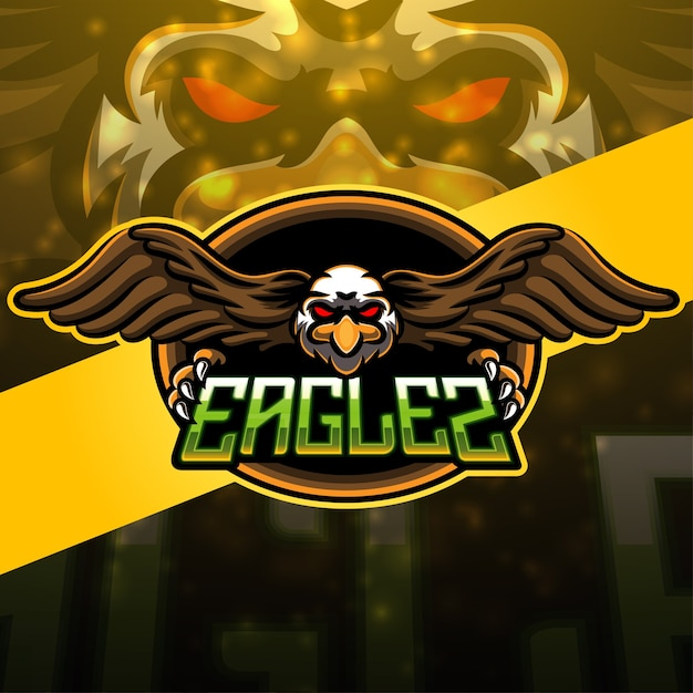 Projektowanie Logo Maskotki Sportowej Orła Premium Wektorów