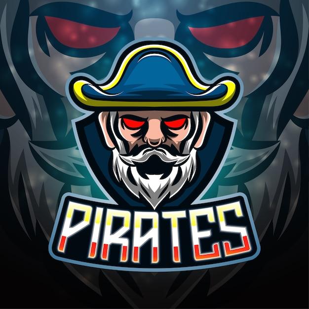 Projektowanie Logo Maskotki Sportowej Piratów Premium Wektorów