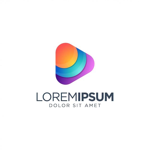 Projektowanie Logo Mediów Premium Wektorów