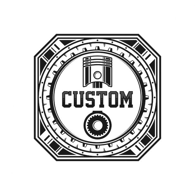 Projektowanie logo motoryzacyjnego Premium Wektorów