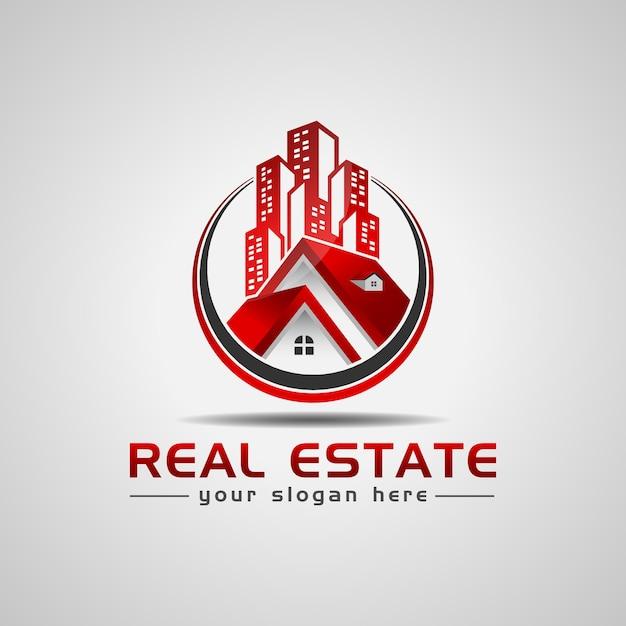 Projektowanie Logo Nieruchomości Premium Wektorów