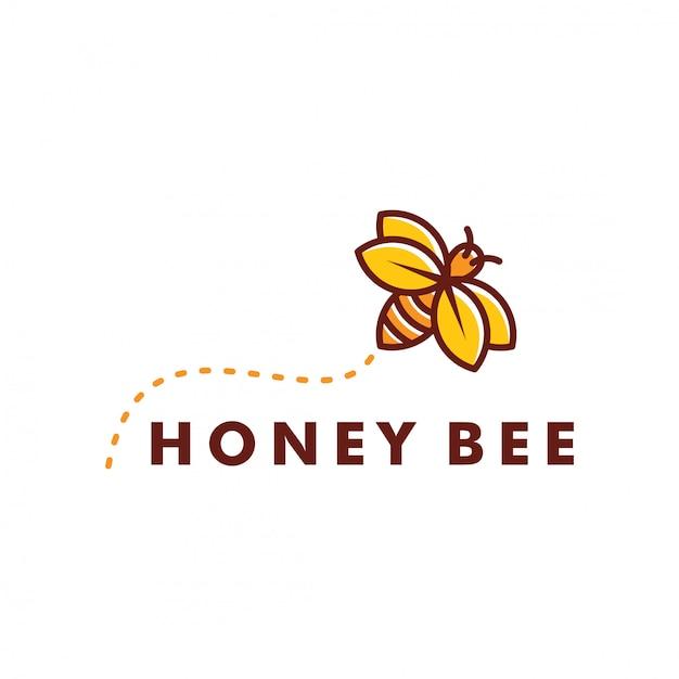 Projektowanie logo pszczoły Premium Wektorów