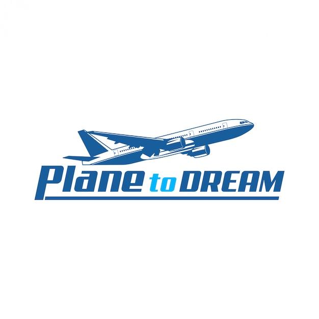 Projektowanie logo samolotu dla twojej firmy Premium Wektorów