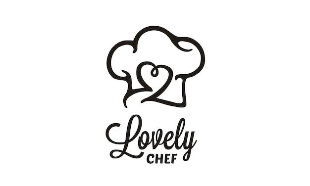 Projektowanie logo szefa kuchni / restauracji Premium Wektorów