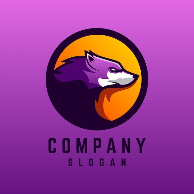 Projektowanie Logo Wilka Premium Wektorów