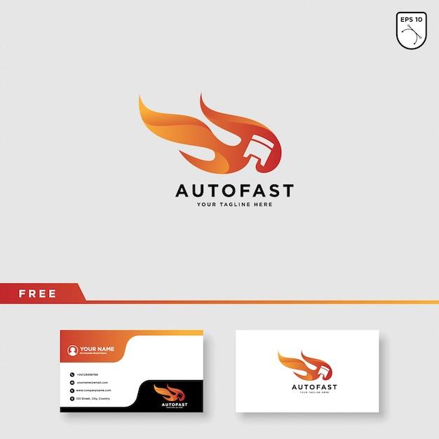 Projektowanie logo wyścigu samochodów wyścigowych Premium Wektorów