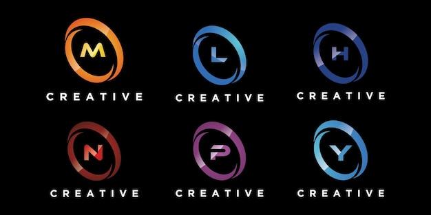 Projektowanie Logo Zestaw Liter Premium Wektorów