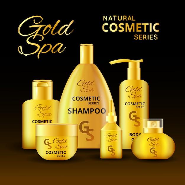 Projektowanie Luksusowych Produktów Kosmetycznych Darmowych Wektorów
