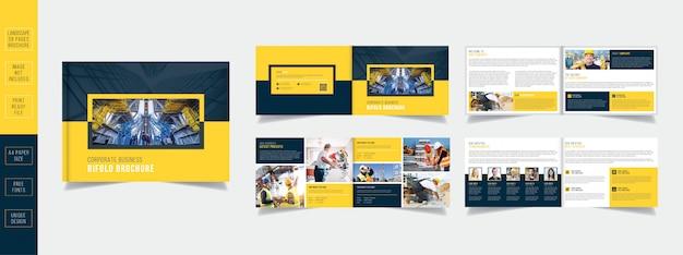 Projektowanie Nowoczesnych Broszur Biznesowych W Kolorze żółtym 08 Stron Premium Wektorów