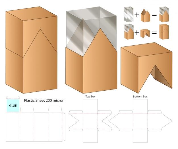 Projektowanie Opakowań Wycinanych Szablonem. Szablon 3d Premium Wektorów