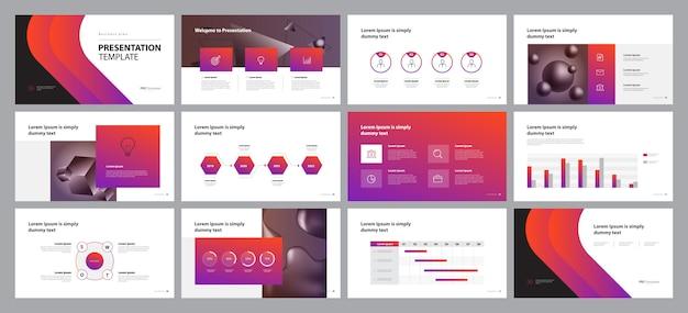 Projektowanie prezentacji biznesowych i układ broszur Premium Wektorów