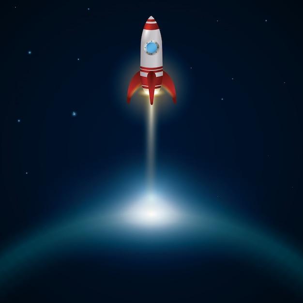Projektowanie statków kosmicznych. Premium Wektorów