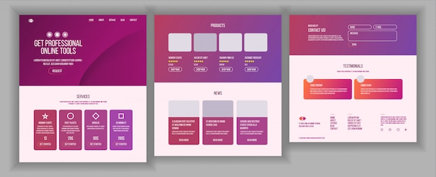 Projektowanie stron internetowych Premium Wektorów