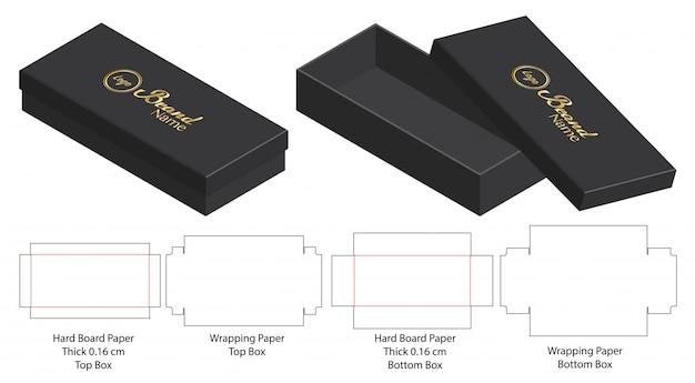 Projektowanie szablonów wycinanych w pudełku Premium Wektorów