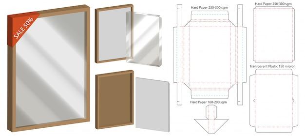 Projektowanie szablonów wycinanych w pudełku. Premium Wektorów