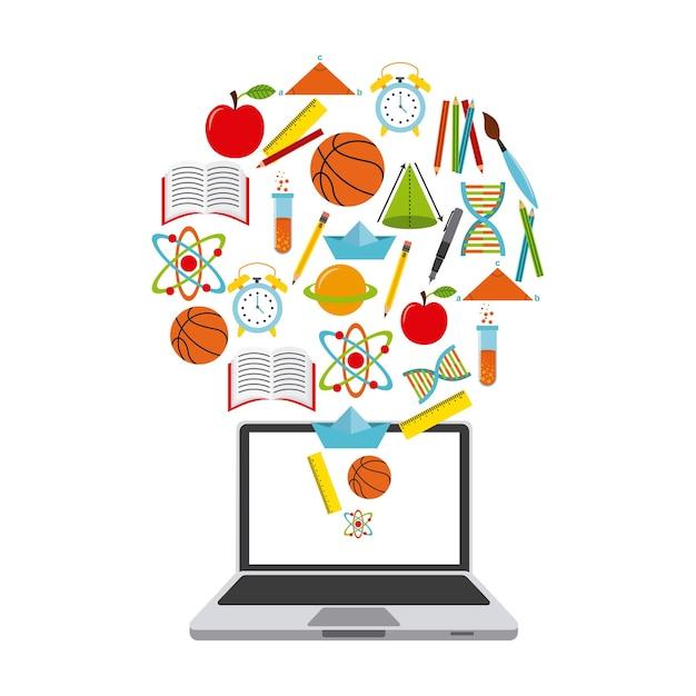 Projektowanie technologii i edukacji Premium Wektorów