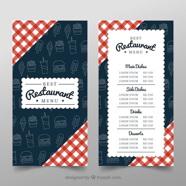 Projektowanie Tła Resturant Darmowych Wektorów